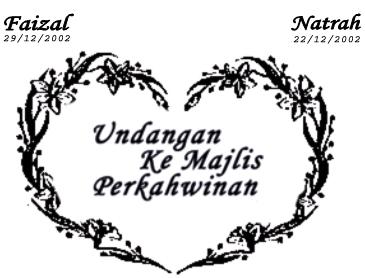 undangan majlis perkahwinan